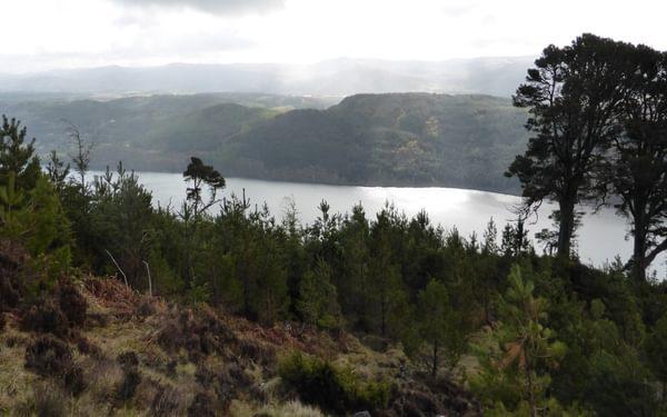 A sunbathed Loch Ness