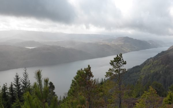 Atmospheric views looking back towards Fort Augustus on Loch Ness
