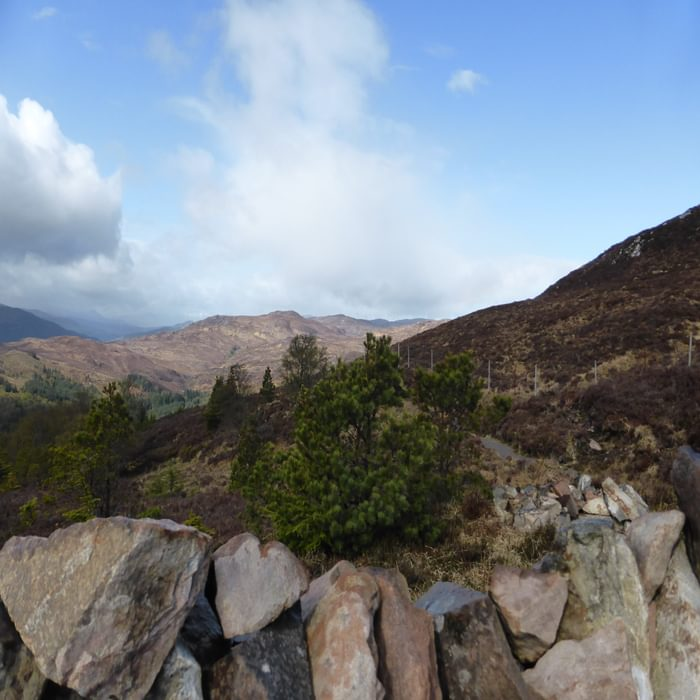 On the slopes of Creag Dherag