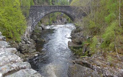 The old Thomas Telford bridge at Invermoriston