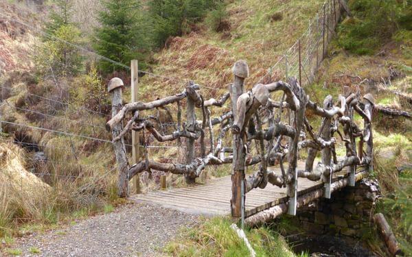 The troll bridge on the high route heading towards Drumnadrochit