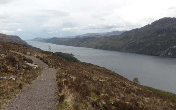 Views along Loch Ness on the high route, heading to Drumnadrochit