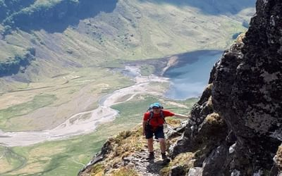On the steep approach to the Aonach Eagach