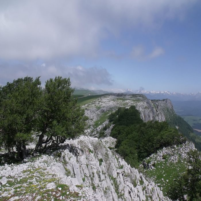 Limestone outcrops, Sierra de Abodi in the Basque Country