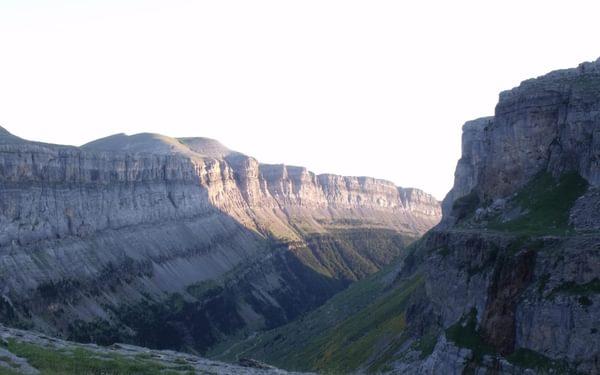 Ordesa Canyon from below Refugio de Góriz