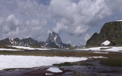 Pic du Midi d'Ossau from Ibon d'Anayet
