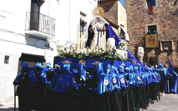 Nazarenos at Easter in Caceres