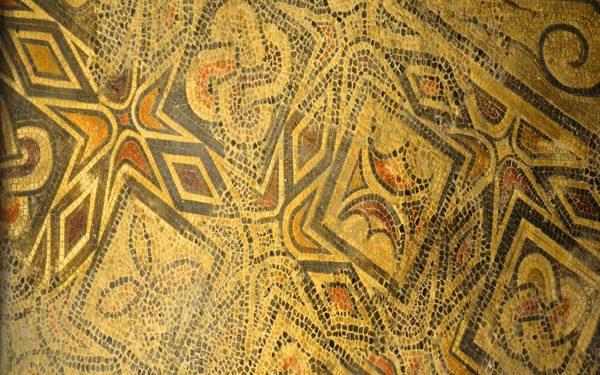Original 4th Century mosaic of the Basilica of St Vincent, Cordoba