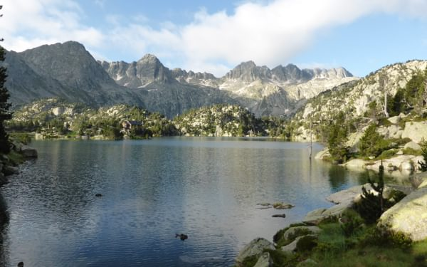 Leaving the Refugio Josep Maria Blanc behind on day four