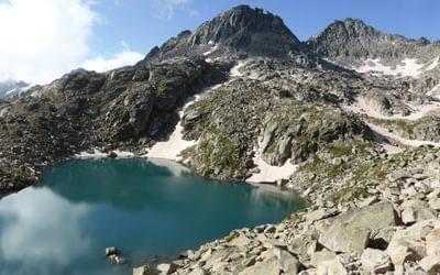 Stunning surroundings climbing towards the Col de Monestero