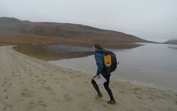 Eleanor Johnstone Runs Along The Beach During The 2018 Lowe Alpine Mountain Marathon Photo By Jack Redvers Harris