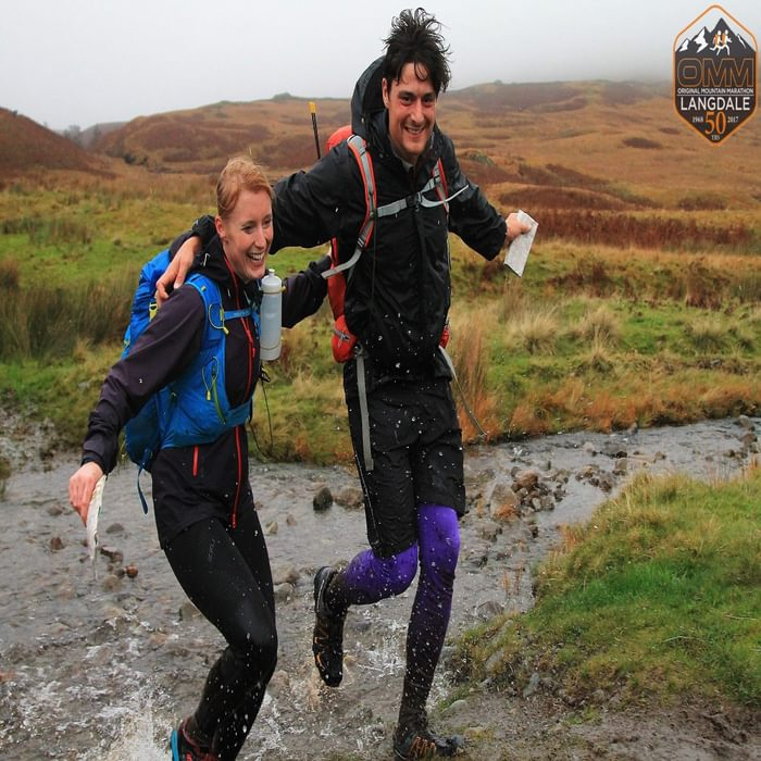 Alex and Fiona making the 2017 OMM look quite fun