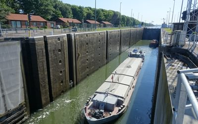 Diepenbeek locks of the Albert Canal