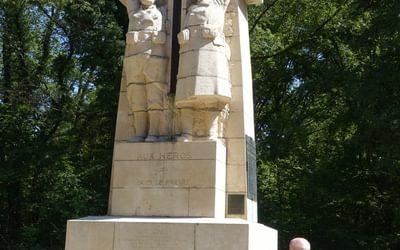 Monument on Bois-le-Prêtre battlefield (Lorraine)