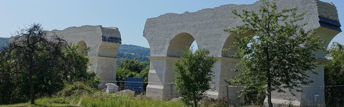 Ruins of Roman aqueduct near Ars-sur-Moselle
