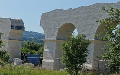 Ruins of Roman aqueduct near Ars-sur-Moselle
