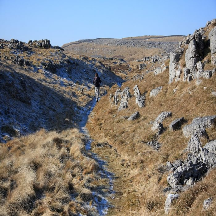 Walk2A Crossing Great Asby Scar On A Frosty Winters Morning