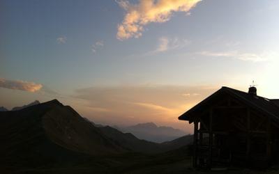Refuge de la Croix de Bonhomme on the Tour Mont Blanc France