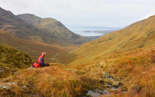 Taking in the coastal views Knoydart Scotland