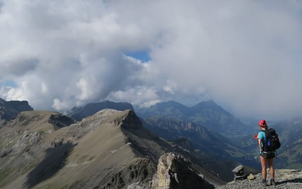 Superb views from the Hohturli Pass The Alpine Pass Route Switzerland