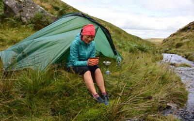Wild camping Dartmoor England