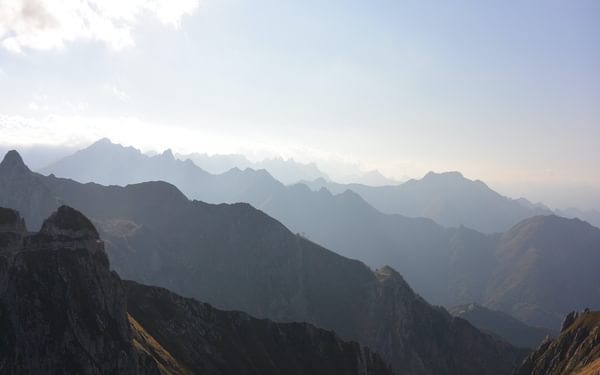Just before sundown in the Italian Alps