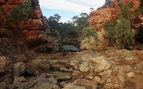 Day 3, Fish Hole: one of the rare times we saw open water