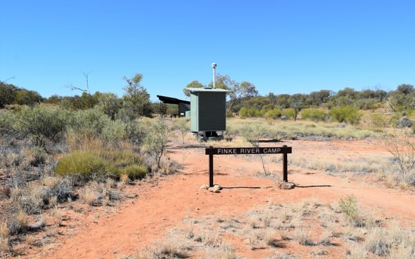 We could have stayed in this typical Larapinta Trail campsite, but we chose comfort instead, for a change!