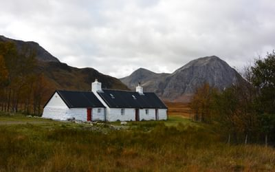 Blackrock Cottage, Glencoe. West Highland Way, Scotland.