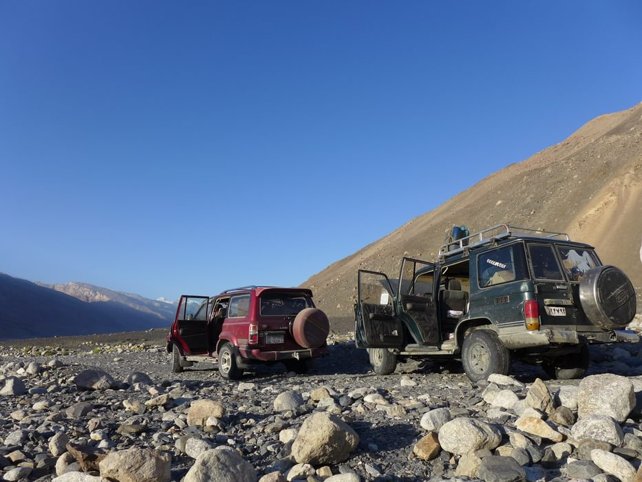 4X4 vehicles are sometimes the only way like here in the Wakhan Valley