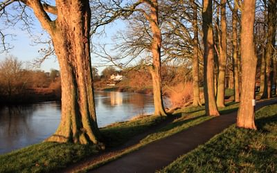 Pic2 The River Eden Flowing Through Parkland In Carlisle