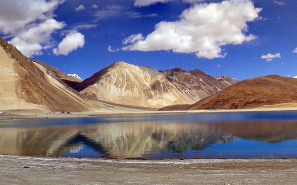 15 Pangong Lake Panorama Made Of 15 A And 15 B