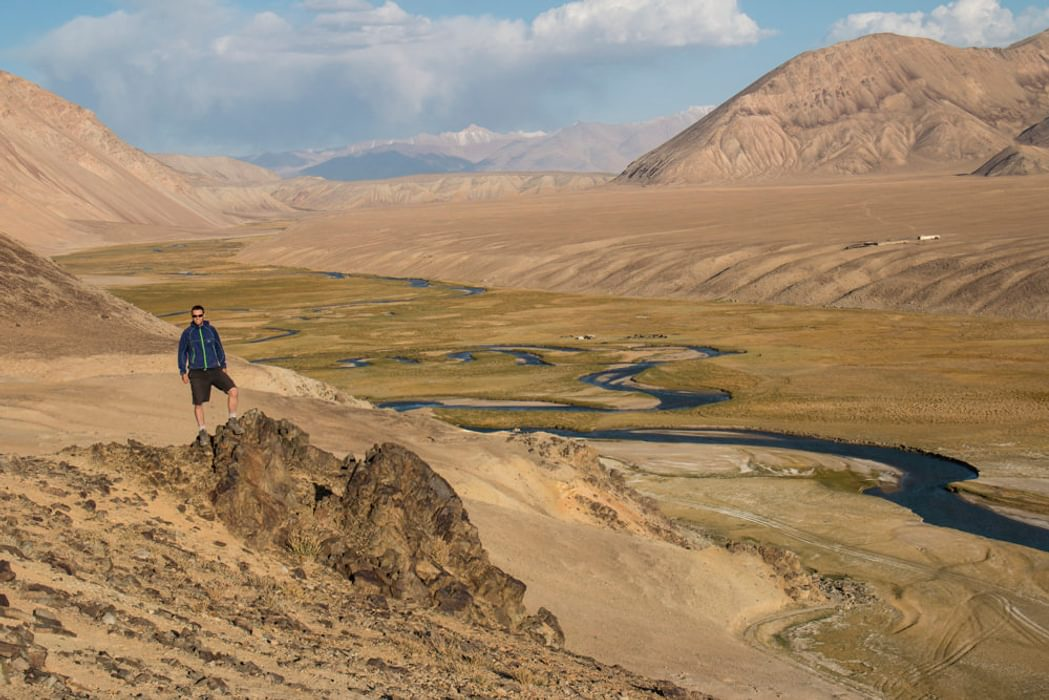 The Pamirs is a vast, high-altitude and largely empty mountain wilderness in the southeast of Tajikistan. In 2013 it was added to the UNESCO World Heritage List. Pictured is the Alichur River, close to Yashilkul Lake in the Central Pamirs.