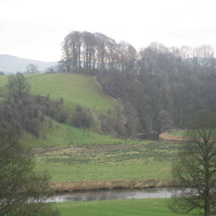 Cromwell's Basin - a Norman hillfort above the River Ribble