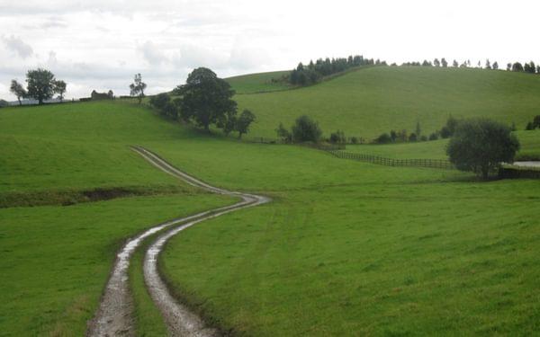 Footpath through the Aire Gap