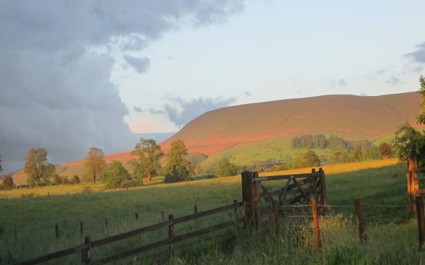View to Pendle Hill - from limestone to gritstone