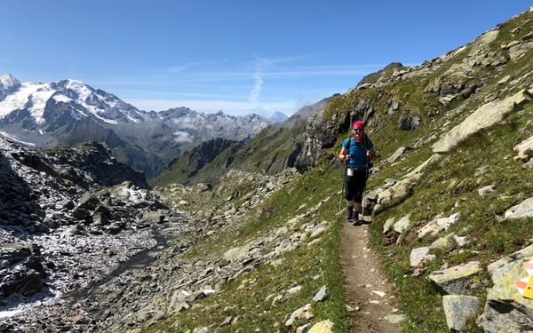An easier section of path at the junction of the Col de la Chaux and the path from Col Termin