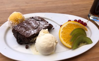 The best brownie ever, in Findeln