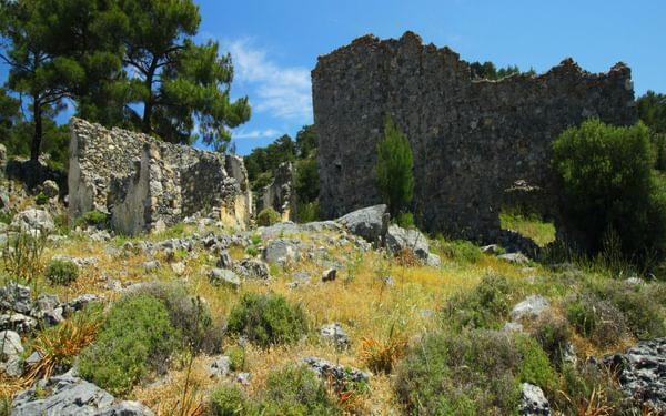 We explored the ruins; walked among the crumbling walls