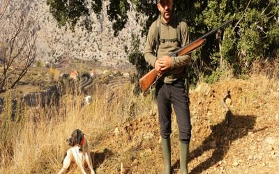 Local hunter with his retriever