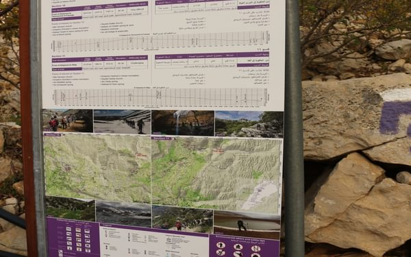 The LMTA information boards found at the start of each stage are comprehensive and informative