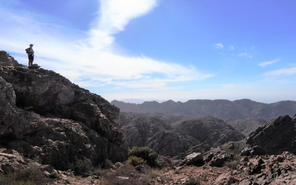 From Jebel Tikwyene most of the north western summits can be seen.