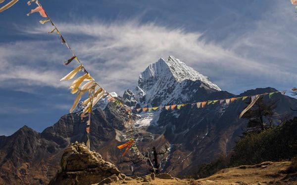 Thamserku Is One Of The Highlights Of The Views Between Namche And Khumjung
