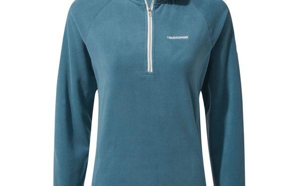 Miska V Half Zip. Velvety half-zip microfleece top