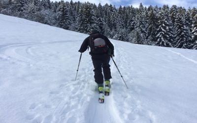 Ski touring enables travel up and downhill, through remote, off-piste and backcountry areas