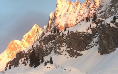 Watching the sun set over Les Dents Blanches