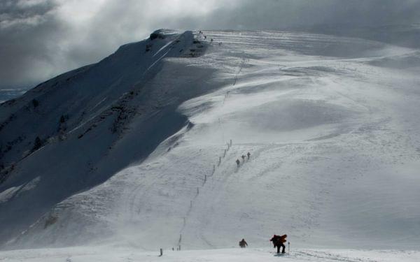 Ridge traverse to Columby de Gex, French Jura