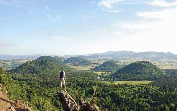 The volcanic landscape of Puy de la Vache