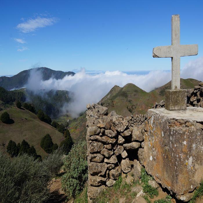 Descending from the mountains towards gentler upland farmland