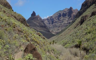 The view before climbing out of the Barranco de los Vicentes